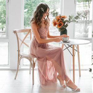 Bohemian chic dress for ceremony