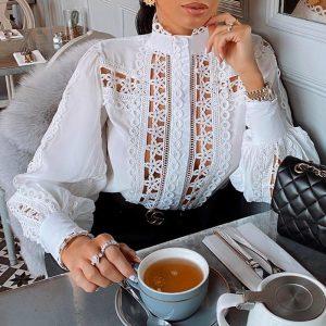 Bohemian Style White Blouse