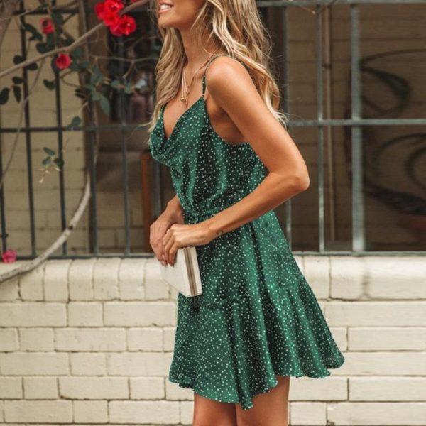 Green Bohemian Summer Dress