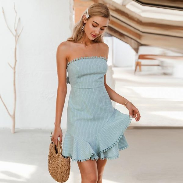 Bohemian Strapless Dress
