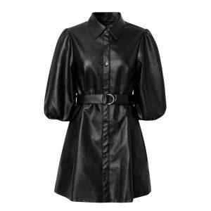 Elegant Hippie Leather Dress