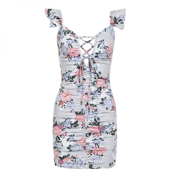 Bohemian Decolleté Short Dress