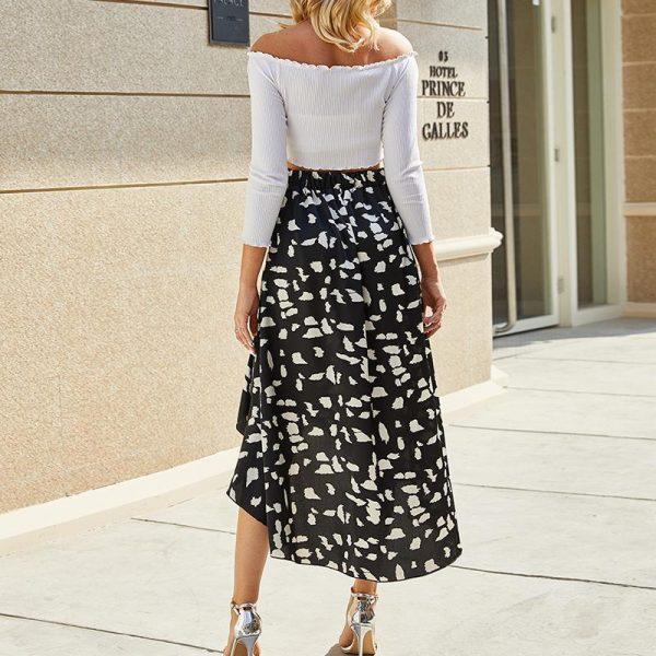 Bohemian Skirt White Pantere Stain