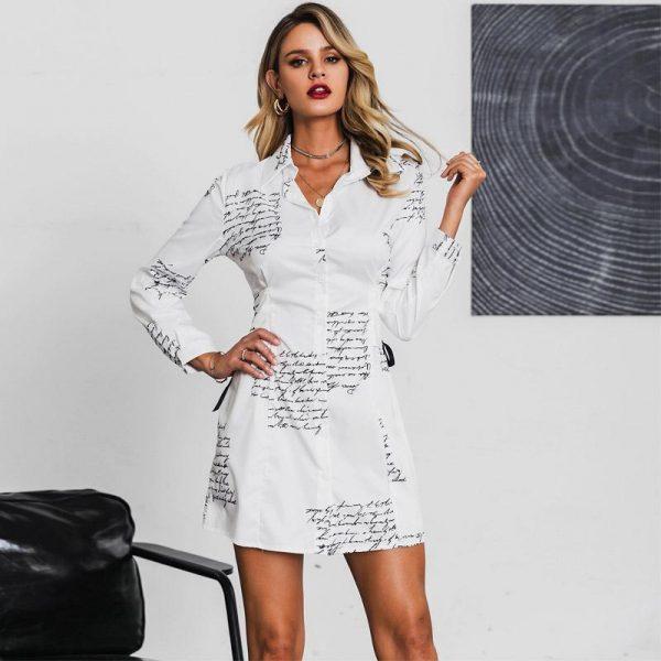 Bohemian Collar Short Dress