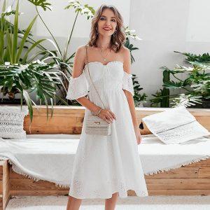 Bohemian mid-length dress