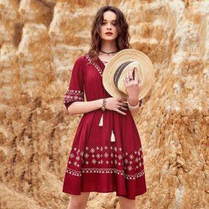 Bohemian chic dress summer 2021