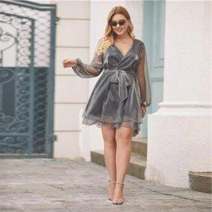 Big size boho chic dress