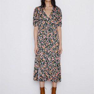 Hippie winter maxi dress