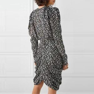 Bohemian winter style dress