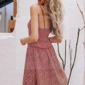 Dress boheme burgundy