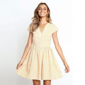 Bohemian chic cream dress