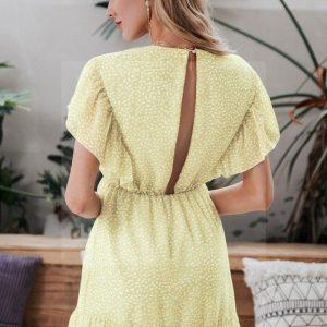 Bohemian short sleeve dress