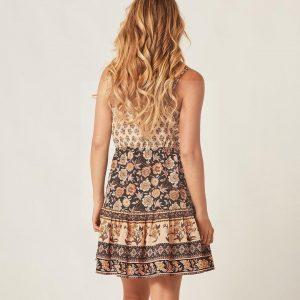 Flowery hippie dress
