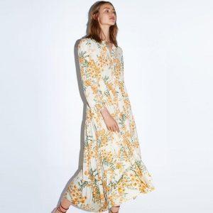 Bohemian winter maxi dress
