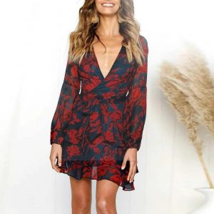 Hippie chic tunic dress for women